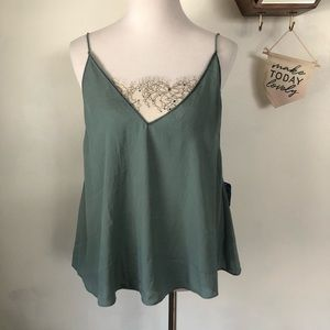NWT Free People Cami with Lace Insert